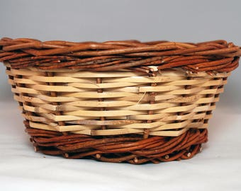 "Traditional Sicilian Willow ""Vimini"" Basket - ""Paniere"""