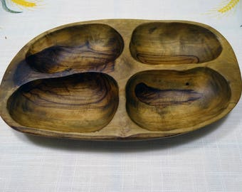 Olivewood Change Coin and Key Dish/Tray