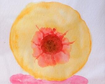 """Peach 6x6"""" Watercolor"""