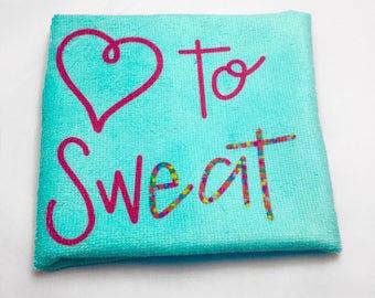 Love to Sweat Hand Towel
