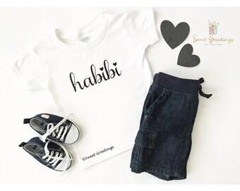 Habibi Shirt or Bodysuit , Eid Gift, Ramadan, Muslim, Newborn, Islamic Clothing, Onesie, Islamic Gifts, Islam, Aqiqa, Baby,