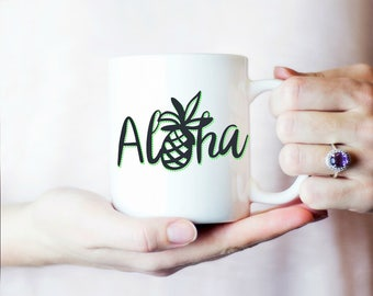 Hawaiian Coffee Mug, Aloha Mug, Hawaii Coffee Mug, Inspirational Coffee Mug, Amazing White Ceramic 11OZ or 15OZ mug