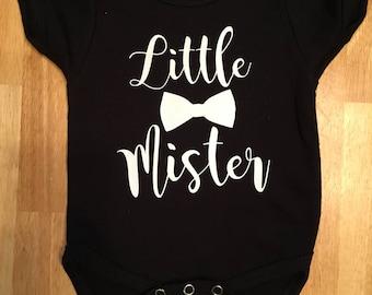 """6-9 month """"Little Mister"""" Cotton Onesie"""