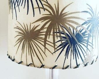 Mid century modern glass table lamp