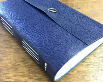 Long stitch leather journal notebook