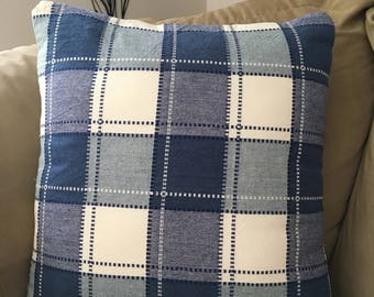 Throw Pillow Cover 18x18 | Plaid Decorative Throw Pillow Cover | Accent Pillow Cover