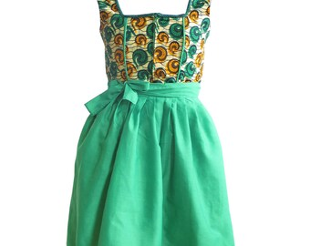 Women's African Bavarian Dirndl Dress / Oktoberfest