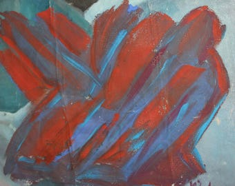 Vintage abstract oil painting signed