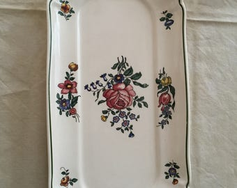Vintage Villeroy and Boch cake plate cake plate mid century porcelain