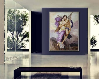 """Classical Painting, Hand Made Reproduction of William Adolphe Bouguereau, Abduction of Psyche, 36x48""""/90x120cm"""