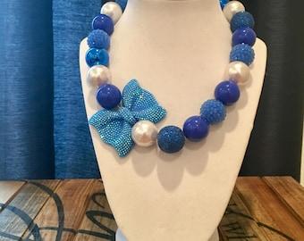 Blue Girls Bubble Gum Necklace