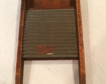 "Rare ""The ABC"" Childrens' Wooden Washboard by M.E. Converse & Co"