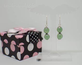 Aventurine bead earrings