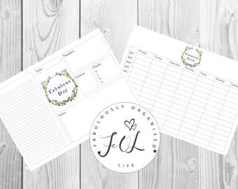 Fabulously Organised Daily Planner