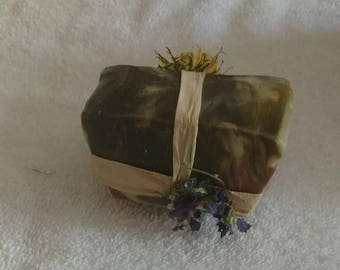 Cold processed natural soap
