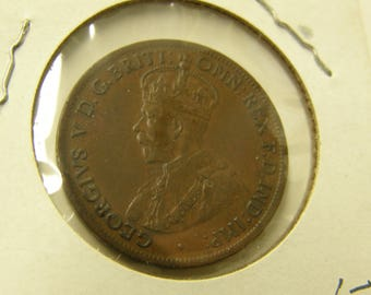 Australia 1921 Half Cent Copper Coin - A Very Nice Coin