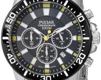Pulsar Men's PT3641X Analog Display Analog Quartz Silver Watch