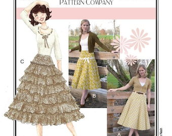 Sew Chic Vintage Style Spin Skirt Pattern #LN1209