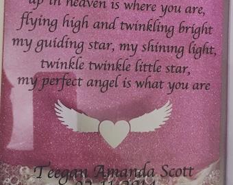 Twinkle twinkle memorial frame