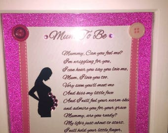 Mum to be frame / mum to be gift / gift for mum to be / baby shower gift / new baby gift
