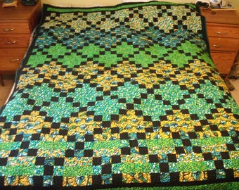 Green Irish Chain Quilt