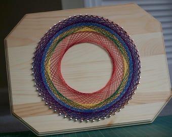 String Art – Rainbow Spirograph (large)