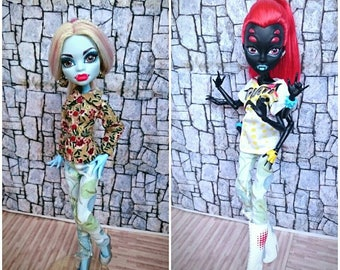 Monster high white jeans trousers clothes