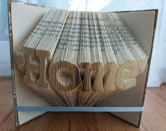 Home folded book art