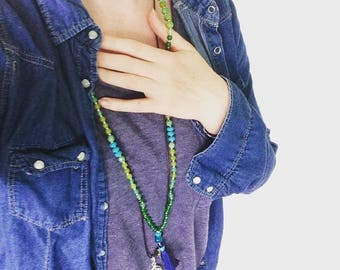 Mala beads meditation necklace hearts truth mala 108 mala beads prayer beads meditation free shipping hand knotted