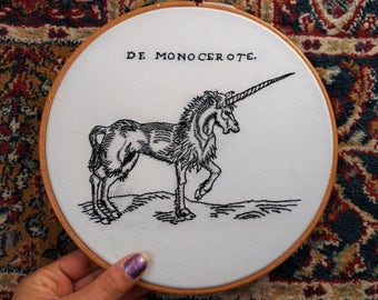 "Custom 5"" or 8"" inch Embroidery Hoop Art"