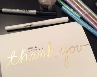 Thank You Cards with Embossing!