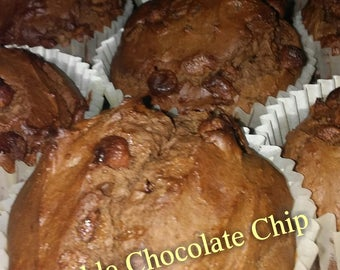 Double Chocolate Chip Jumbo Muffins