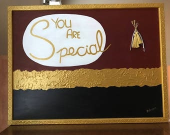 You Are Special - Wall Decoration - Wall Hang - Wood Decor to Honor the Loved One - Honor Someone Special in Your Life