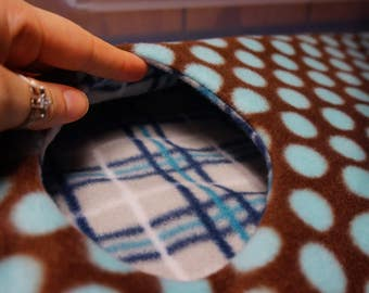 Travel Blanket / Lap Blanket / Hammock Liner - Custom Made! - Perfect for Small Animals: Rats, Gerbils, Hamsters, Sugar Gliders etc.