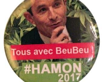 """Badge FUN #2 - """"all with Beubeu! HAMON 2017 """""""