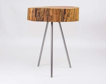 Hand-Made Rustic Redwood Rounds (End-Tables)