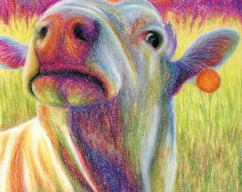 Psychedelic Cow Print