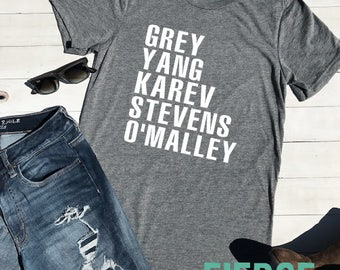 Grey Yang Karev Grey's Anatomy Adult Unisex Shirt, Girly Shirt, Adult Unisex, Meredith Grey, Cristina Yang, Grey's Anatomy