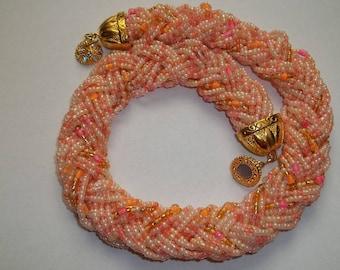 Beaded necklace 'braid'