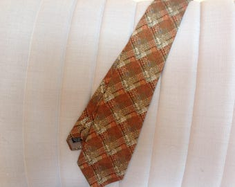 Vintage silk tie, 1970s tie, italian tie, hand made silk tie, Jaeger tie, grooms wear, vintage wedding, father's day