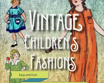 Vintage Children's Fashions Coloring Pages