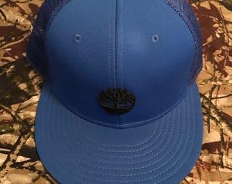 Timberland blue snapback trucker hat