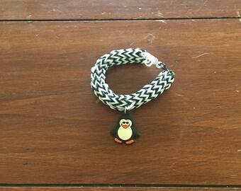 Penguin black and white fishtail bracelet