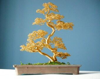 Bonsai Wire, Tree Sculpture, Decor for office or restaurant,Decor for girls room, living room, Wedding gift, Home decor