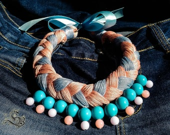 Necklace of cotton thread