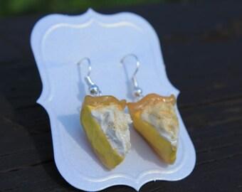 Pie Earrings - Lemon Meringue