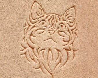 """Cat stamp 3x3cm (1,18""""x1,18"""")"""