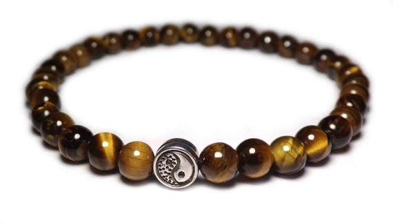 The Yin Yang bead bracelet Tiger eye