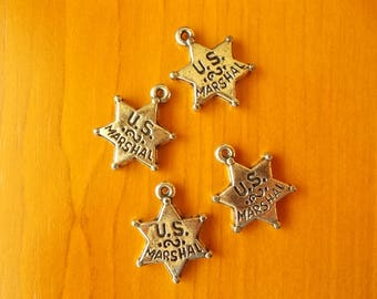 5 stars set number, star necklace, Silver Star,  Pendant star, Star charm