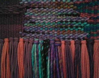 """Woven Wall Hanging - """"Four Rivers"""""""